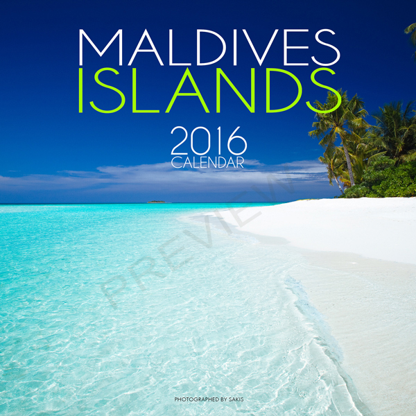 2016 maldives Wall calendar