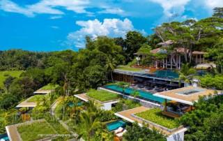 Aerial photography luxury Villa