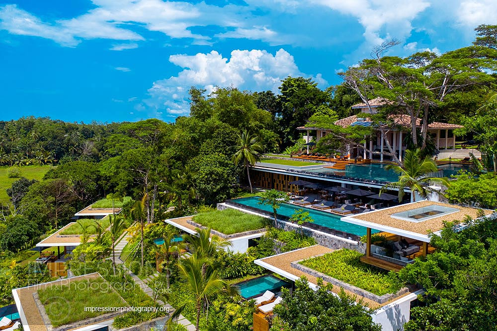 Aerial photography luxury Villa