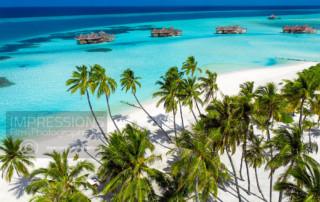 Aerial photography luxury resort Gili Lankanfushi Maldives