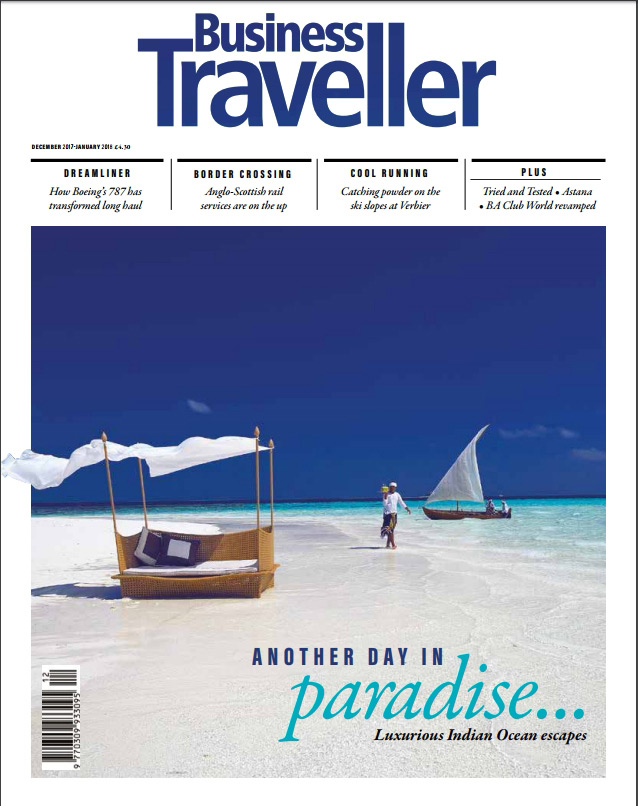 Cover Business Traveller Magazine January 2018