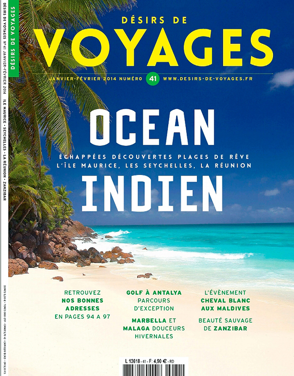 Cover of French Travel Magazine Desirs de Voyages.