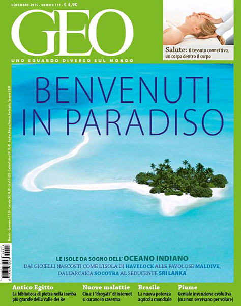 Cover photo GEO MAGAZINE Italy by Sakis Papadopoulos november 2015