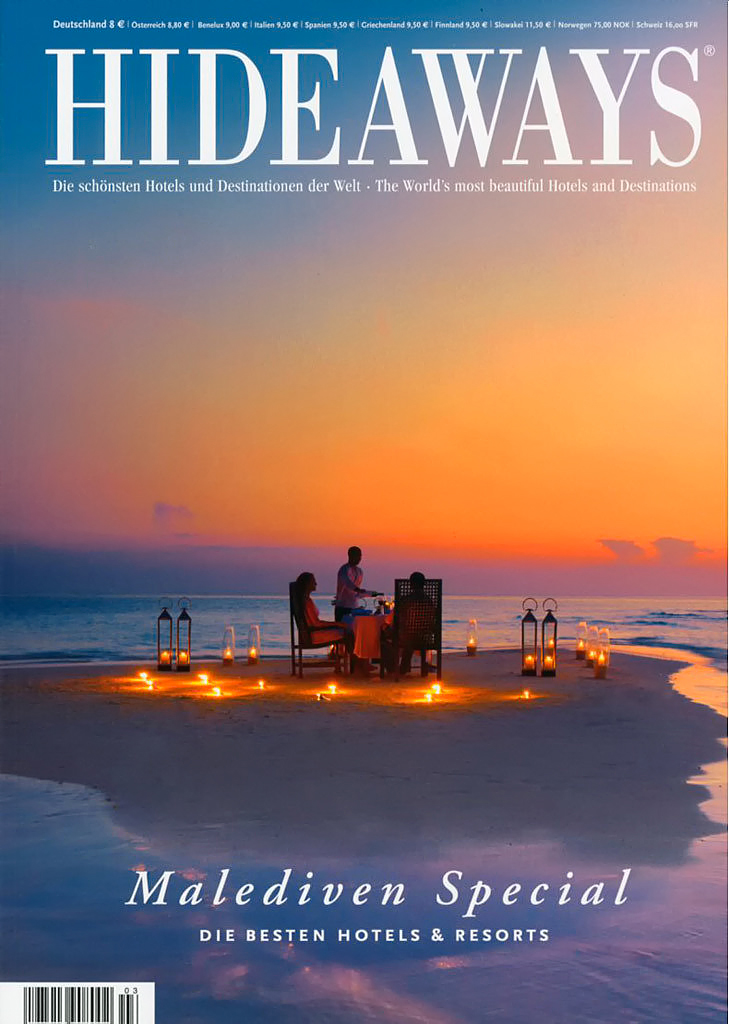 Cover of Hideaways Magazine Maldives Special edition 2015