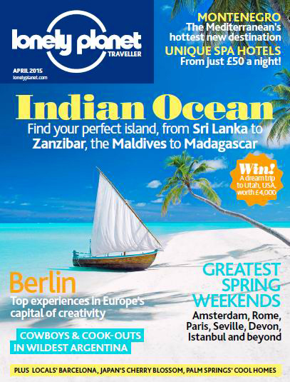Cover Lonely Planet TravellerApril 2015 edition photography by Sakis Papadopoulos