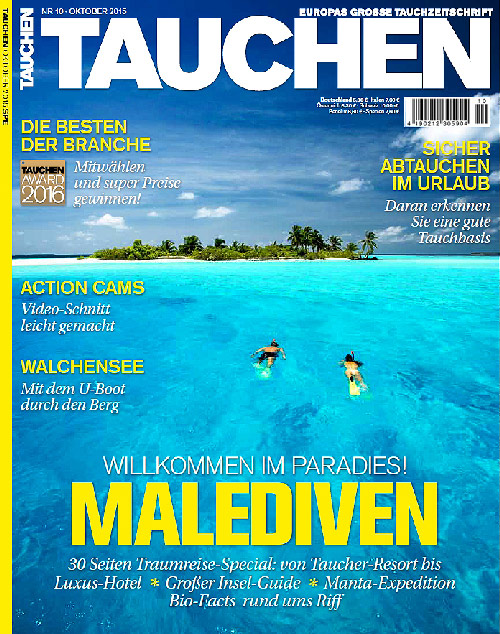 Cover TAUCHEN october 2015 photo by Sakis Papadopoulos