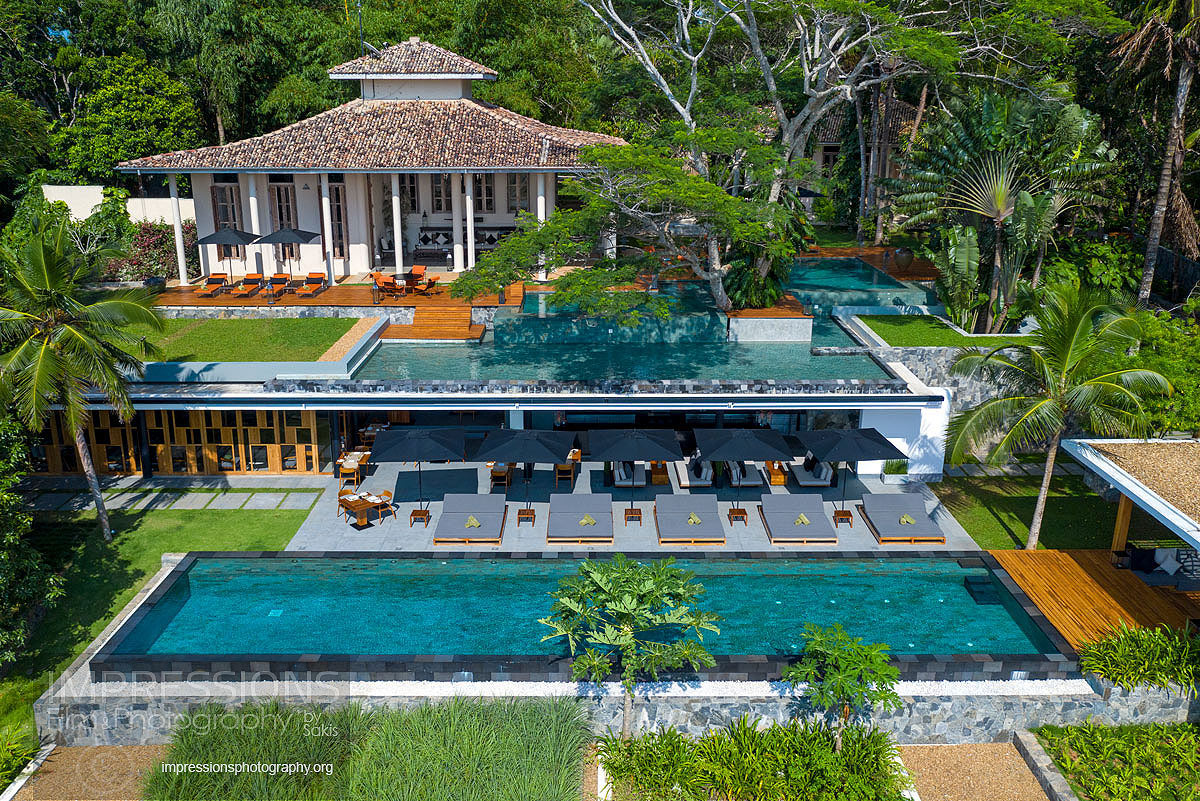 Haritha Villas aerial photography Sri Lanka