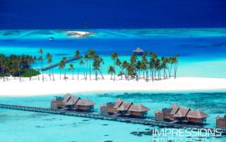 Luxury Resort Aerial Photography Maldives.Gili Lankanfushi Maldives