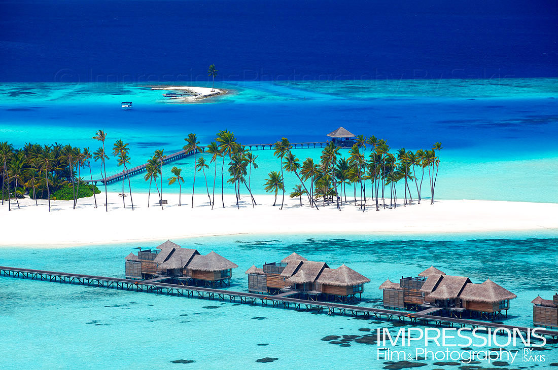 Luxury Resort Aerial Photography Maldives.Gili Lankanfushi Maldives