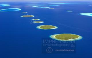 Maldives, aerial view Baa Atoll, stock photo