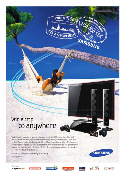 My image from my maldives stock collection on samsung advertisement