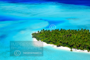 Aerial photo Maldives, Tropical island and beach