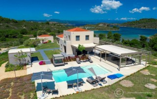 aerial photography for luxury villas greece