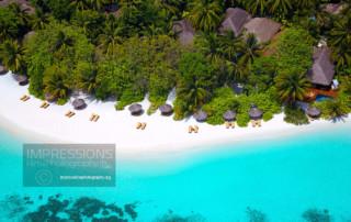 aerial photography luxury hotel maldives
