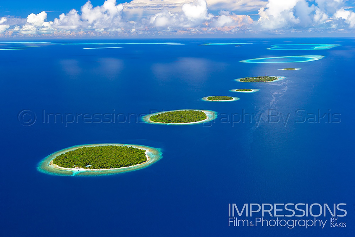 Professional aerial photography maldives