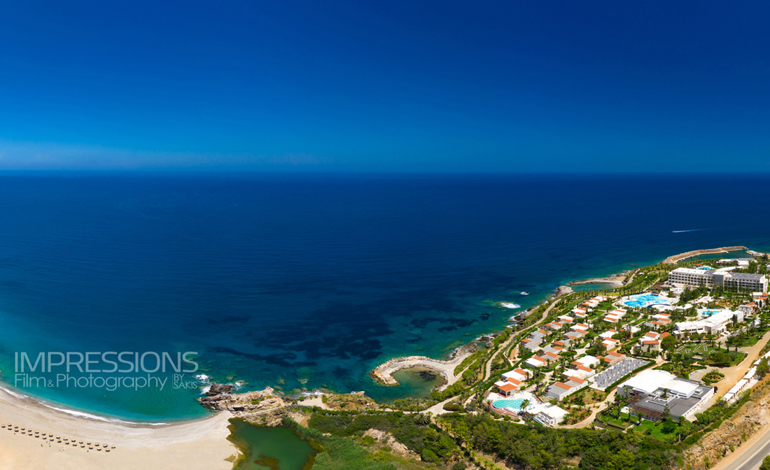 Greece Crete hotel aerial photography