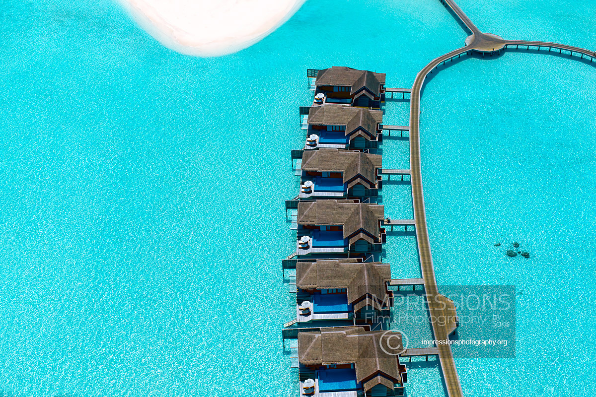 Hotel Aerial drone photography maldives