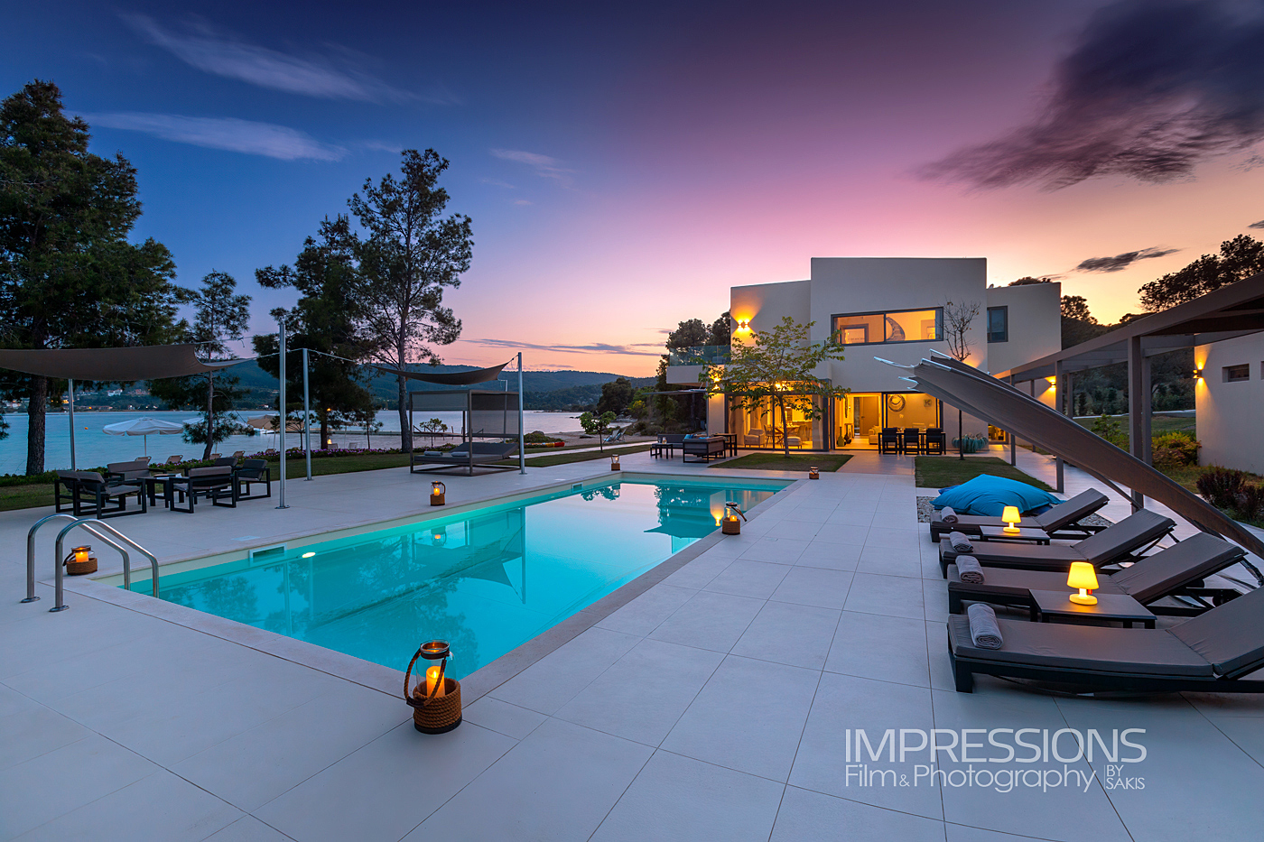hotel and luxury villa photography greece