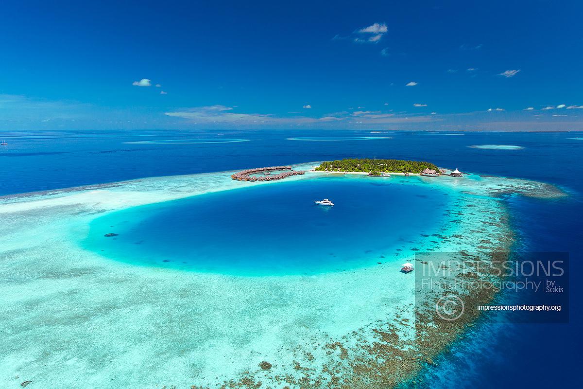 Luxury resort aerial photography