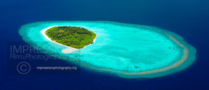 maldives islands aerial view stock photo