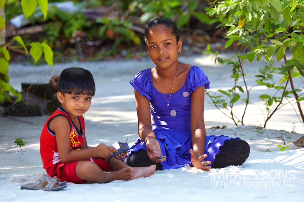 photo of maldivian children on a Maldives local island - photos of the people of Maldives series