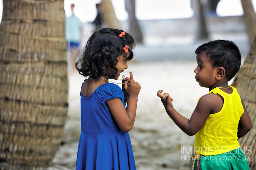 Maldivian children on a  Maldives local island - photos of the people of Maldives series