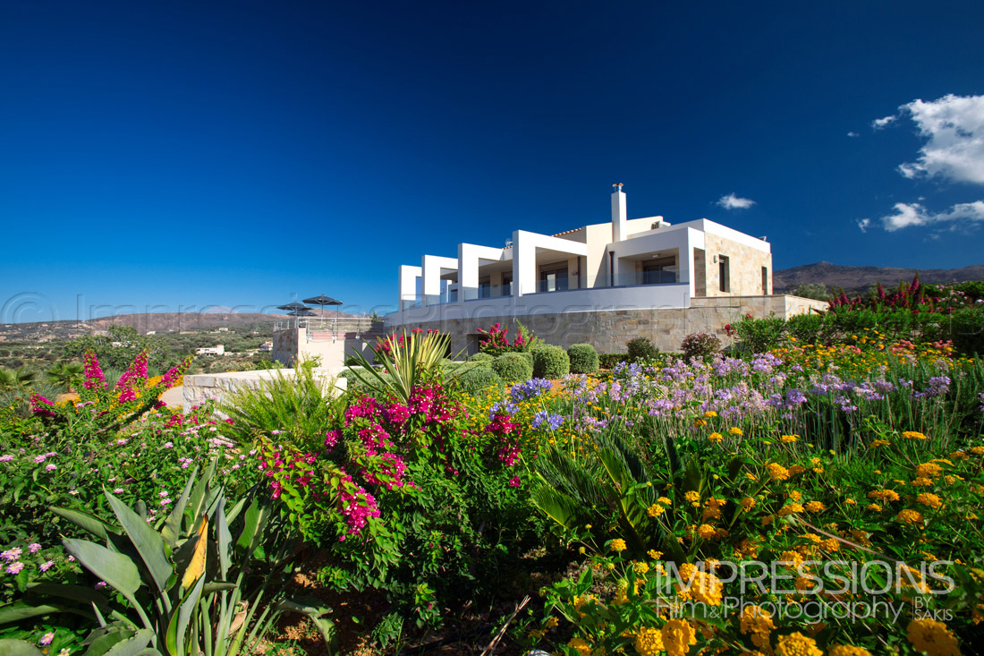 Exterior Photography Luxury Villa Greece. Crete Island. Rethymno Villa Photography
