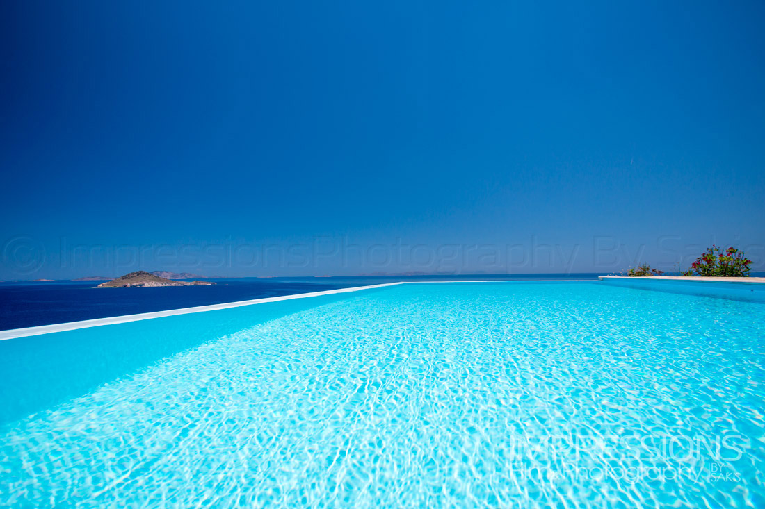 Luxury Villa Photography Greece. Patmos Island. Infinity Pool Photography