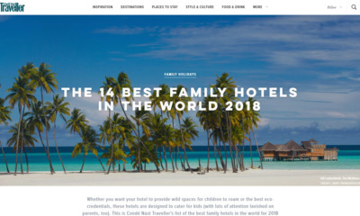 Latest Publications On Condé Nast Traveller Best Hotels In Europe 2018 Worlds Family